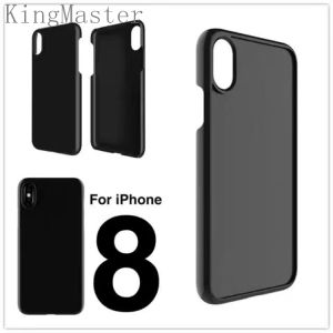 Kingmaster Black PC Phone Case Back TPU Bumper Case for iPhone8 pictures & photos