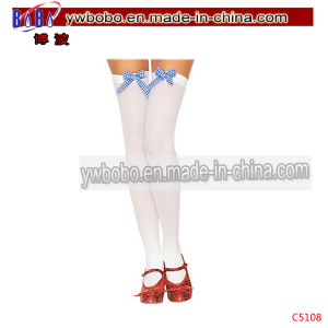Childrensocks Stockings with Gingham Bow Best Christmas Gifts (C5108) pictures & photos