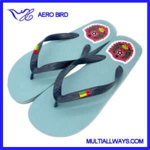 Bissau Flag Africa Colorful Flip Flop for Man pictures & photos