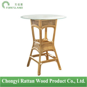 Natural Rattan Round Bar Table