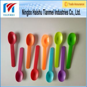 15cm Disposable Ice Cream Plastic Desert Spoon pictures & photos