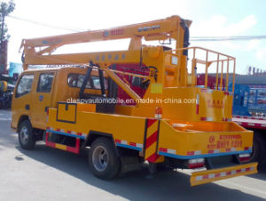 Double Cab Aerial Platform Vehicle 15m Hydraulic Aerial Cage pictures & photos