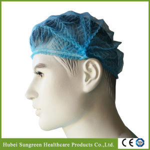 Blue Non-Woven Mob Cap, Clip Cap, Pleated Cap pictures & photos