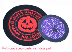 Halloween Theme Design Mouse Pad/ Cup Coaster /Cup Pad pictures & photos