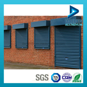 Customized Double Layer Rolling Shutter Door Aluminium Extrusion Profile pictures & photos