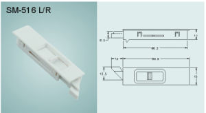 ABS Bolt/ Latch/ Lock for Door and Window (SM-516 L/R) pictures & photos