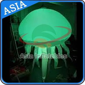 Wholesale 2m Ighted Linflatable Jellyfish, Oxford Cloth Hang Inflatable LED Jellyfish Balloon for Festivals pictures & photos