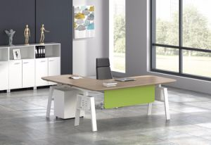 White Customized Metal Steel Electric Height Adjustable Office Lift Table Leg with Hts02-2 pictures & photos