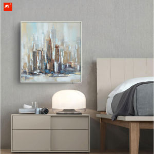 Muted Uptown Cityscape Oil Painting for Home Decor pictures & photos