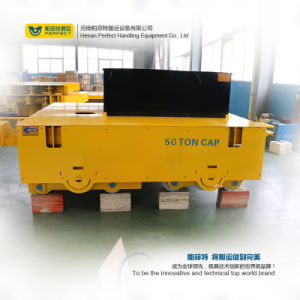 Material Handling Rail Powered Motorized Transfer Car pictures & photos