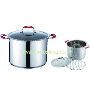 Stainless Steel Stock Pot with Steamer Rack pictures & photos