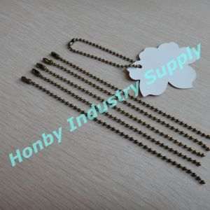 Wholesale for 2.4mm 13cm-15cm/PC Bronze Color 2.4mm Metal Bead Tag Chain