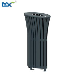 Indoor Round Homely Swing Top Iron Waste Bin pictures & photos