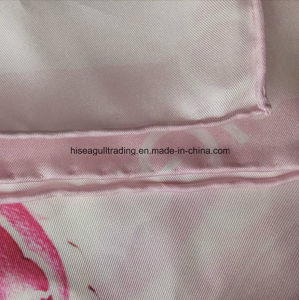Hand Sewing Digital Print Silk Scarf Made of 14mm Silk Twill Fabric pictures & photos