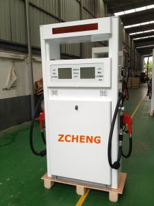 Zcheng Filling Station Win Series Fuel Dispenser Double Nozzle with LED &Cover pictures & photos