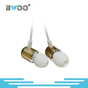 Customized Logo Golden Metal Stereo in-Ear Earphone for Mobile Phone pictures & photos