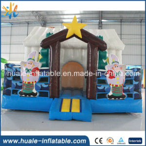Hot Sale Inflatable Christmas Bouncer, Inflatable Christmas House with Gifts for Sale