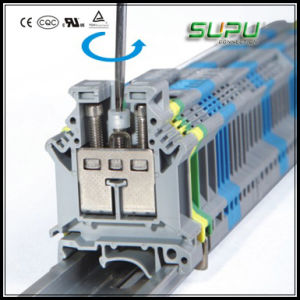 Rail-Mounted PCB Screw Terminal Block pictures & photos