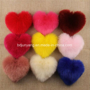 Factory Price Selling Fake Fox Fur Pompom Keychain pictures & photos