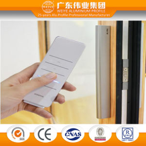 Double Glazing Tempered Glass Aluminum Electric Remote Control Sliding Doors and Windows pictures & photos