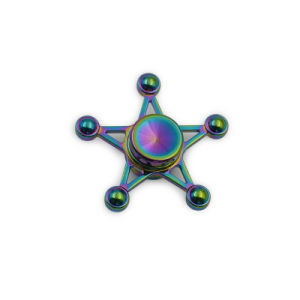Five-Pointed Star Colorful Finger Spinning Children Toys pictures & photos