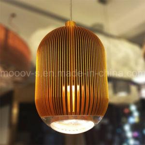 Christmas Decorative Copper Hanging Rugby Streak Aluminum LED Pendant Light pictures & photos