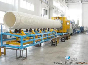 HDPE-PP PVC Corrugated Pipe Plastic Production Extrusion Making Machine Line pictures & photos