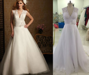Jacket Lace Organza Wedding Dress pictures & photos