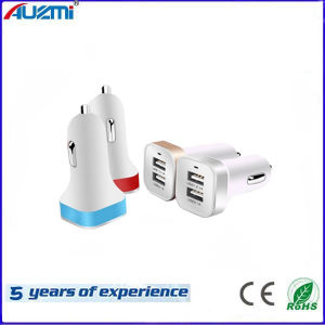 Portable Dual USB Car Charger for Mobile Phone