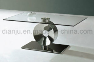 Home Furniture Stainless Steel Glass Coffee Table (CT028#)