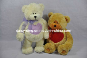 3 Asst Plush Valentine Teddy Bears with Bowtie pictures & photos