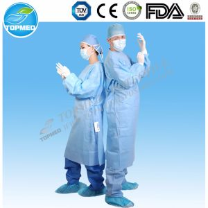 SMS Surgical Gown with Reinforced Area in Front and Arm pictures & photos