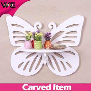 Plastic-Wooden Modern Display Wall Mounted Shelving pictures & photos