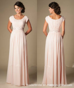 Short Sleeves Mother Dresses Pink Bridesmaid Evening Dresses M71013L pictures & photos