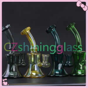 Cheaper Price Wholesale Glass Water Smoking Pipe with Skull Perc pictures & photos