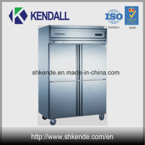 4 Doors Stainless Steel Commercial Refrigerator for Kitchen