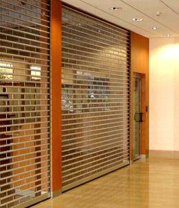 Commercial Polycarbonate PC Slat Panel Transparent Security Roll Shutter Door (Hz-TD06) pictures & photos