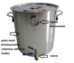 Home Beer Keg 30L/8gal Alcohol Wine Boiler Beer Brewing Kit pictures & photos