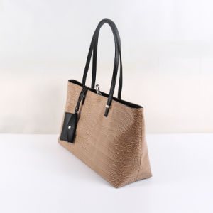 Fashion Women Crocodile Leather Handbag of Simplicity pictures & photos