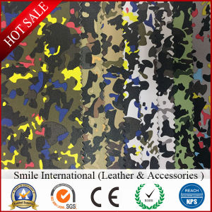 Camouflage Artificial Leather Can Do for Shoes and Handbags pictures & photos