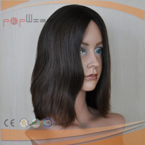 Full Short Virgin Hair PU Custom Wig pictures & photos