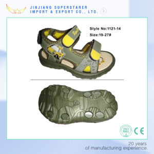 New Design Teenage Boys Open Toes Skidproof Sandals pictures & photos