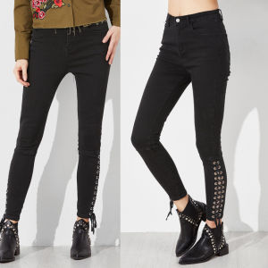 Fashion Women Preppy Styleleisure Casual Bandage Jeggings Pants pictures & photos