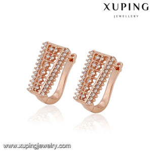 93907 Fashion Jewelry Cubic Zirconia Rose Gold Huggie Earring pictures & photos