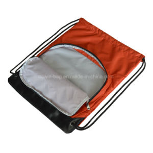 Promotional 210d Checked Fabric Drawstring Backpack for Rider/ Runner pictures & photos