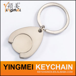 Promotional Custom Metal Shopping Trolley Token Coin Key Ring (Y02531) pictures & photos