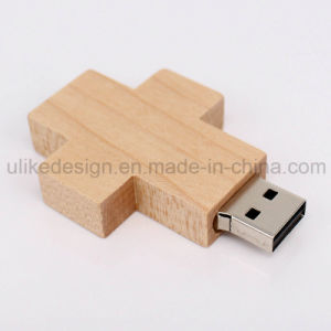 Wooden Cross USB Flash Drive (UL-W012) pictures & photos