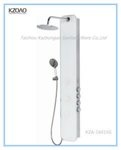 Kza-16415g Conceaded Jets Tempered Glass Shower Panel pictures & photos