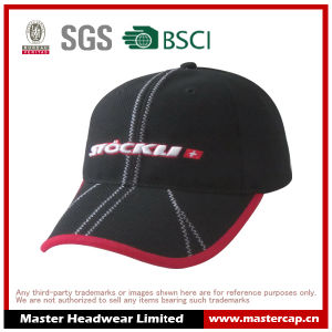 Stretch Mesh Fabric Embroidery Logo Fitted Cap pictures & photos