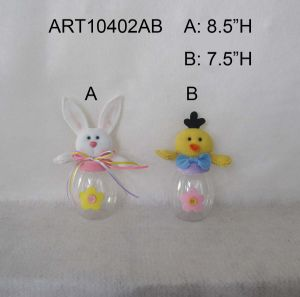 Chicken and Bunny Candy Jar Decoration Easter pictures & photos